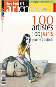 article dans le magazine artension hors série 100 artistes 100 paris